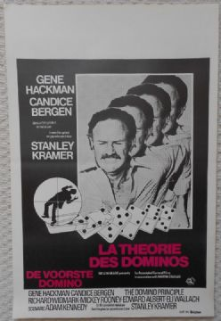 Domino Principle, Original Belgian Movie Poster, Gene Hackman, '77